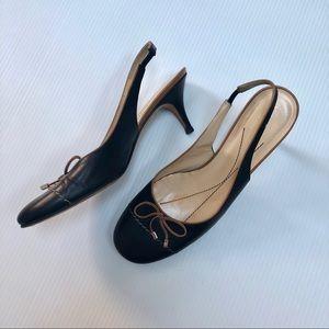 Kate Spade Leather Slingback Heels SZ 8.5